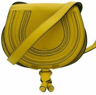 Chloe Marcie small mustard crossbody bag