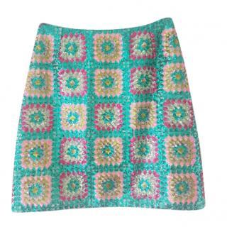 Manoush Multicoloured Sequin Embellished Mini Skirt