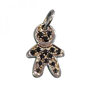 Bespoke Black Diamond Gingerbread Man Pendant