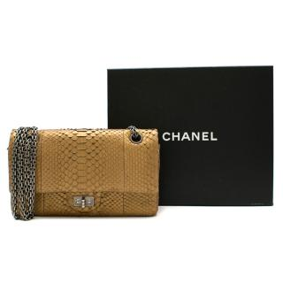 Chanel Reissue 225 Double Flap Bag in Matte Gold Python