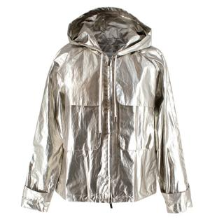 Derek Lam 10 Crosby Silver Metallic Coat