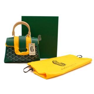 Goyard Green Goyardine Saigon Mini Top Handle Crossbody Bag