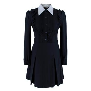 Miu Miu Blue Ruffles Shirt Dress