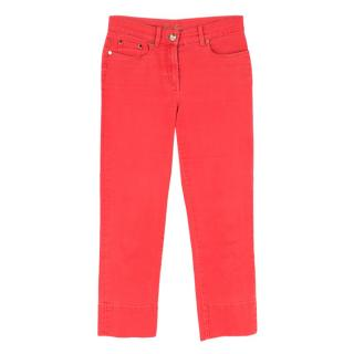 Loro Piana Neon Pink High-Waisted Denim Jeans