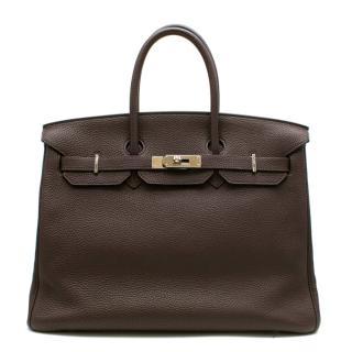 Herm�s Birkin 35 in Ebene Togo Leather PHW
