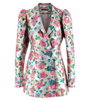 Rotate Birger Christensen Floral Carol Jacquard Dress
