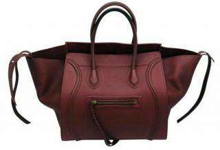 Celine medium Phantom Luggage maroon leather tote