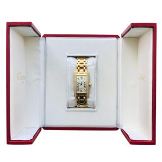 Cartier 18ct yellow gold & diamond tank americaine watch