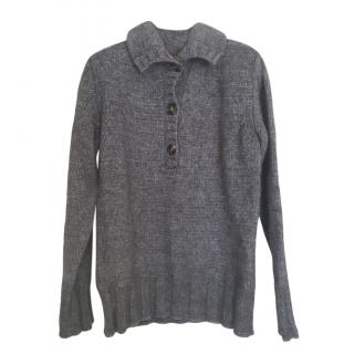 Max Mara Grey Wool Knit Jumper