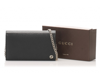 Gucci Betty Leather Wallet on Chain