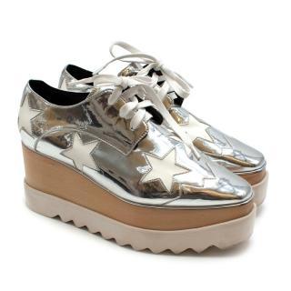 Stella Mccartney Silver Elyse platform shoes