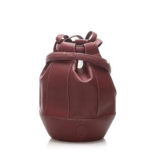 Cartier Must de Cartier Leather Bucket Bag