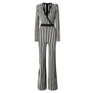 Balmain Wrap Effect Striped Jumpsuit - Worn at BGT Auditions