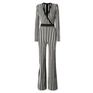 Balmain Wrap Effect Striped Jumpsuit - Worn at BGT Auditions
