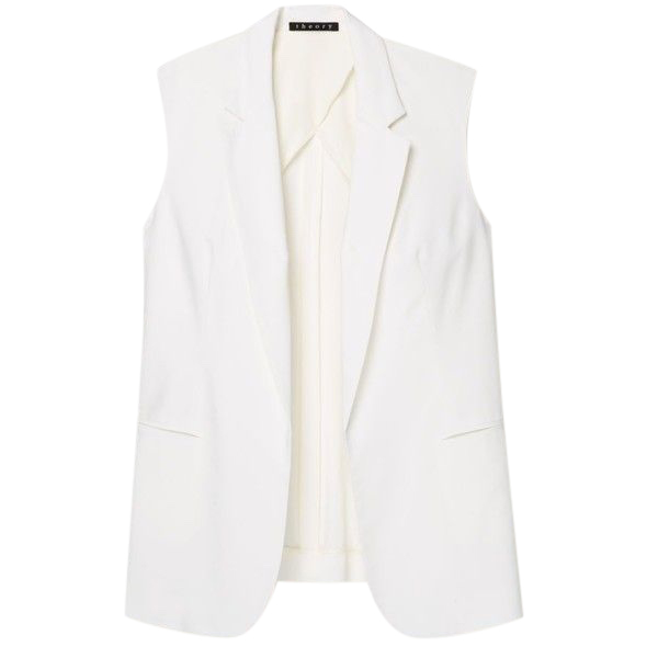 Theory ivory wool blend waistcoat
