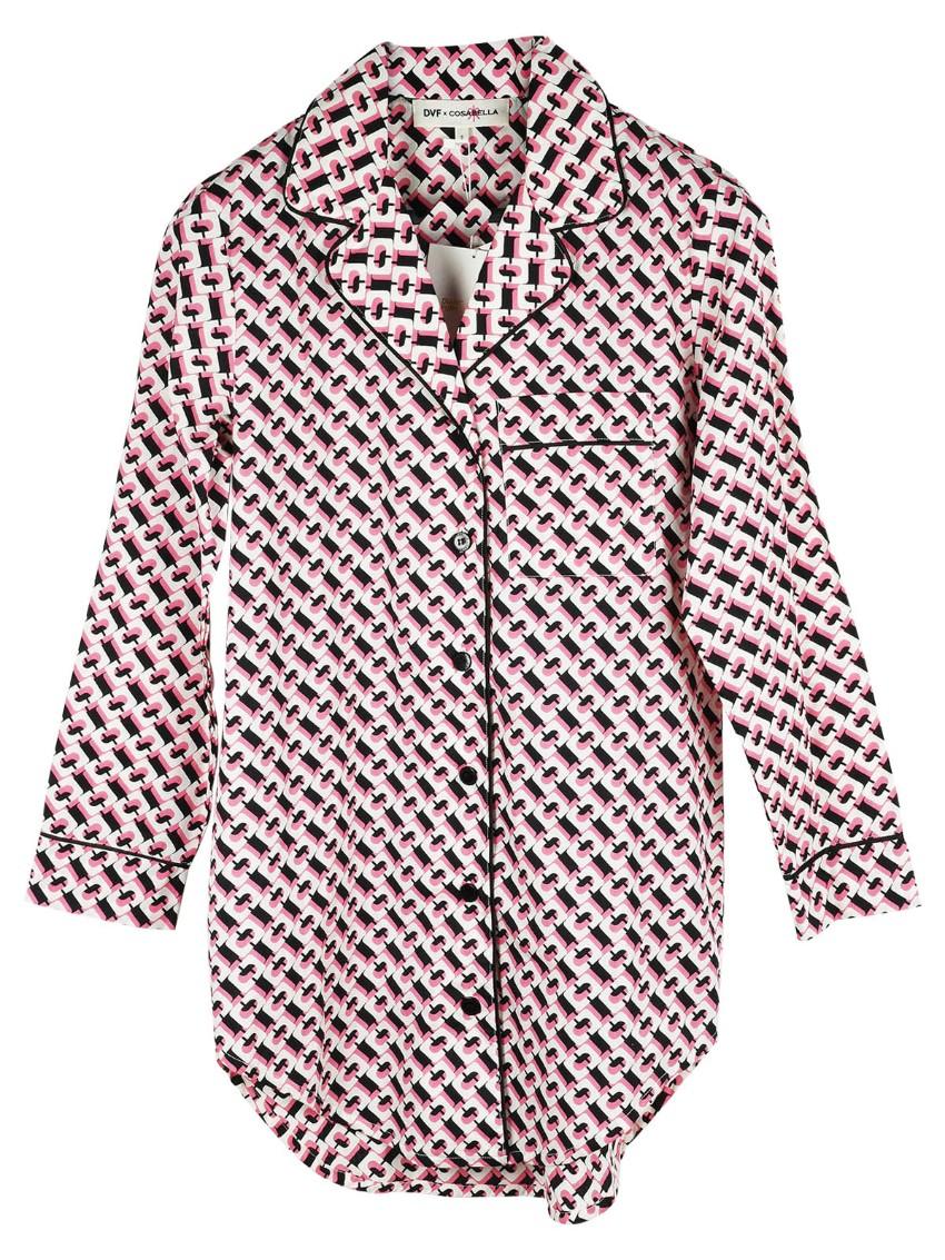 Diane von Furstenberg x Cosabella Bella Lite patterned shirt