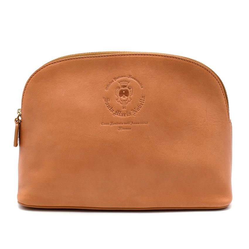 Santa Maria Novella Tan Leather Wash Bag