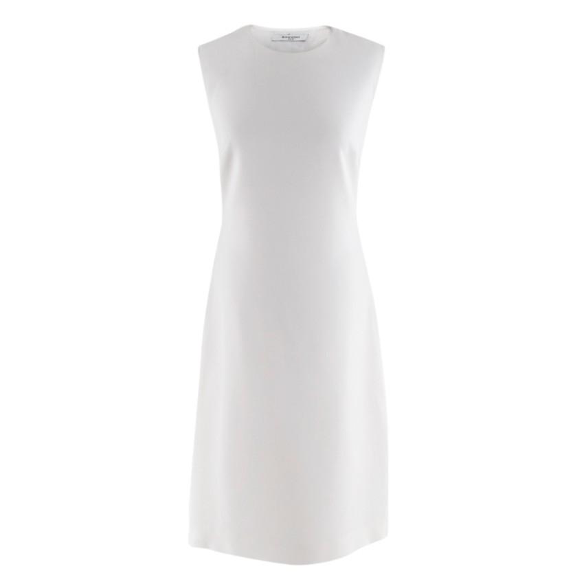 Givenchy Cream Sleeveless A-Line Tie-Back Midi Dress