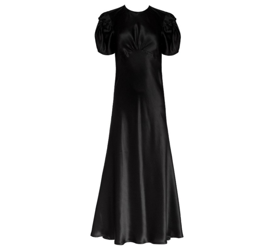 Maggie Marilyn Black Silk 'It's up to you' dress