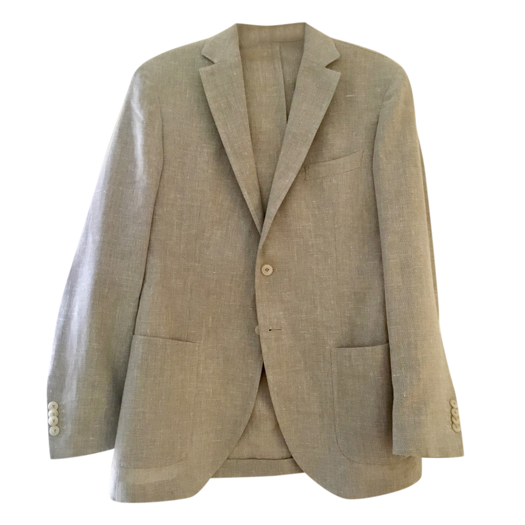 Boggi Mens Wool & Linen Lightweight Tailored Jacket size 52 reg