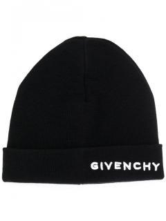 Givenchy Woolen Black Logo Beanie