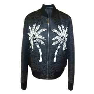 Dolce & Gabbana Men's Brocade Embellished Bomber Jacket