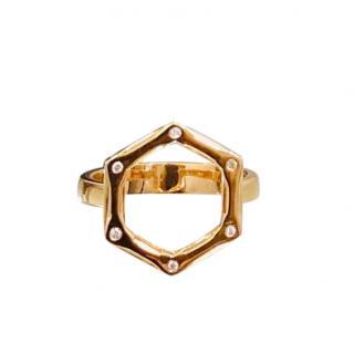 Bespoke Rose Gold Set Diamond Hexagonal Ring