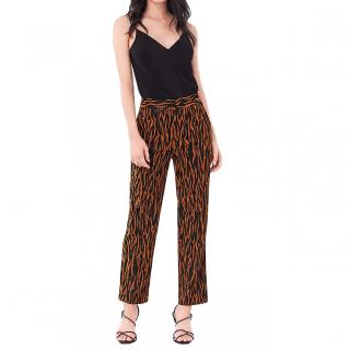 DVF Sienna Animal Print Jacquard Trousers