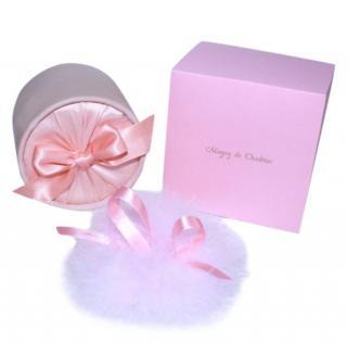Maguy De Chadirac Pink Satin Marabou Feather Powder Puff