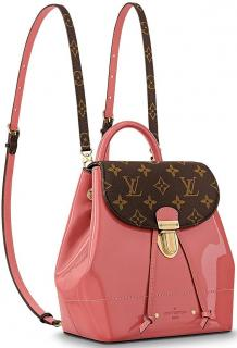 Louis Vuitton Pink Patent Hot Springs Mini Backpack