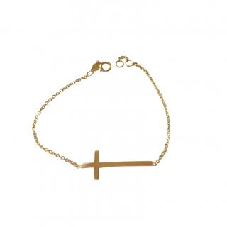 Bespoke Aylo 14ct Gold Cross Bracelet