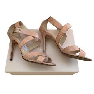 Jimmy Choo Pink Python Sandals