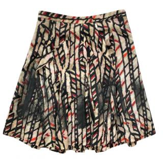 Bottega Veneta Printed Silk Crepe Skirt