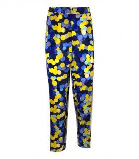 Carolina Herrera silk polka dot trousers