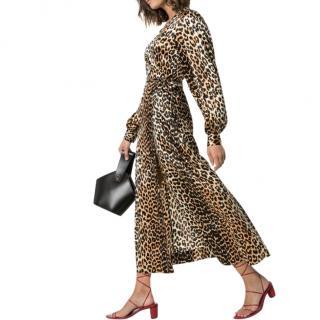 Gannl leopard print long sleeved dress