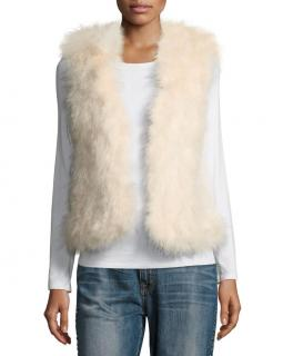 Club Monaco feather trimmed gilet