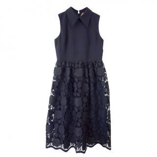 No.21 black floral lace dress