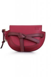 Loewe raspberry leather mini Gate bag