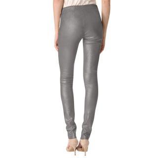 Joseph metallic silver lambskin leggings