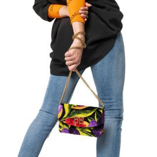 Balenciaga Velvet Floral BB Shoulder Bag
