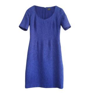 Caroline Charles wool & silk blue shift dress