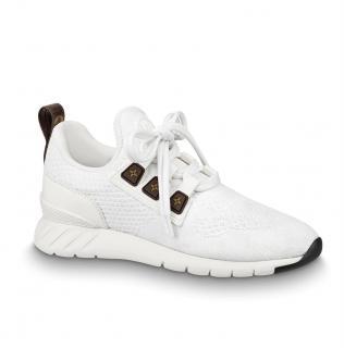 Louis Vuitton white mesh monogram aftergame sneakers