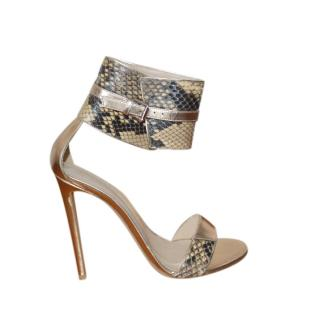 Gianvito Rossi gold leather heeled sandals