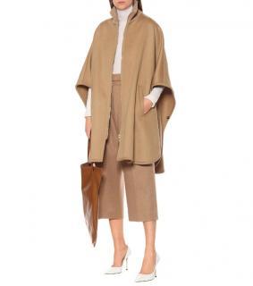 Stella McCartney camel wool oversized cape
