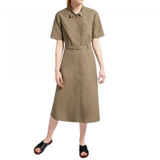 MaxMara khaki cotton blend shirt dress