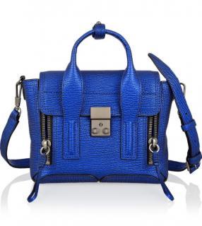 3.1 Phillip Lim Pashli Mini blue leather satchel bag