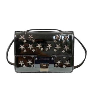 Jimmy Choo silver patent leather crossbody bag