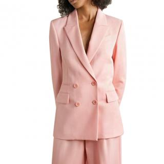 Racil Archie pink wool blend double-breasted blazer