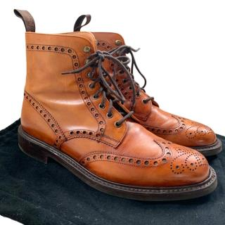 Joseph Cheaney calf leather ankle boots
