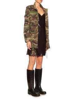 Saint Laurent black Festival 25 rain boots